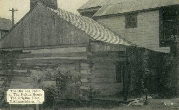 Fulton House cabin before renovations in the 1960's